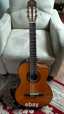 Takamine GC1CE-NAT Acoustic-Electric Classical Cutaway Guitar Natural