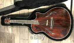 Taylor T5 Cocobolo Acoustic Electric Guitar Highly Figured Bookmatch RARE OOP