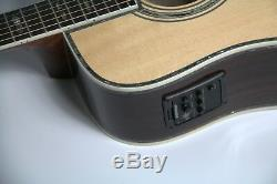 Top Quality D45P Style Electric Acoustic Guitar Ebony Fishman EQ 41'' Full Solid