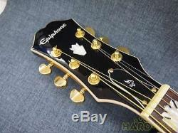 Used Epiphone EJ-200SCE/VS Electric Acoustic Guitar WithSoft Case
