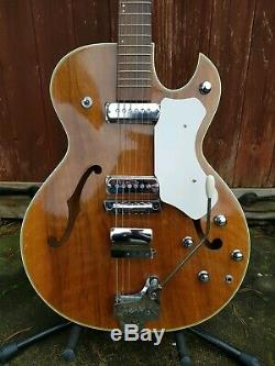 Vintage 1960s Hopf Allround Archtop Semi-acoustic Guitar made in Germany Hofner