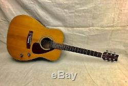 Vintage 1970's Yamaha FG-160E Acoustic Electric Guitar-Needs Neck Reset & Repair