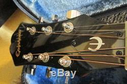 Vintage Epiphone Acoustic Electric Guitar Model# PR-4ENA With Case