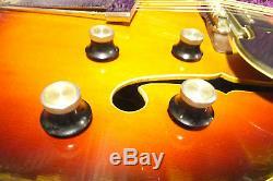 Vintage Yamaha AE-11 ae11 Semi Acoustic Electric Guitar withcase Japan 7/24