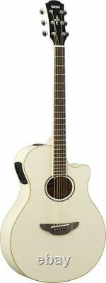 Yamaha APX600 Acoustic / Electric Guitar Vintage White