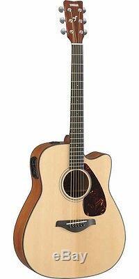 Yamaha FGX700SC Acoustic-Electric Folk Guitar Natural Cutaway NEW Free Shipping