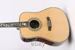 Zuwei D45 Acoustic Electric Guitar Abalone Body&Neck Inlay Rosewood BackSide